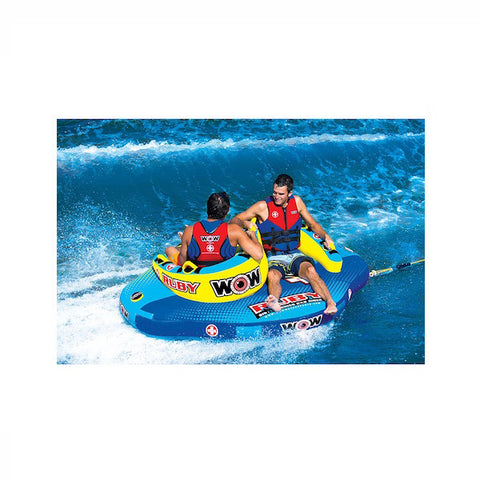 WOW Ruby Sister Series Towable Boat Tube towed