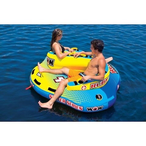 WOW Ruby Sister Series Towable Boat Tube and Lounger
