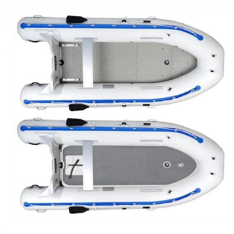 Sea Eagle 14' Sport Runabout Inflatable Boat top view of the floor types.