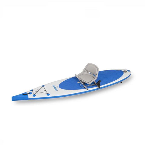 Sea Eagle Swivel Seat Fishing Rig on a Sea Eagle needlenose inflatable SUP.