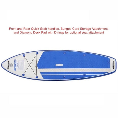 Sea Eagle HB96 Hybrid Inflatable SUP with features highlighted.