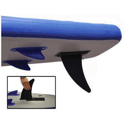 Sea Eagle Longboard 126 Inflatable SUP removable skeg closeup.