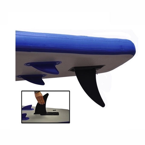 Sea Eagle Longboard 11 Inflatable SUP rear skeg close up.