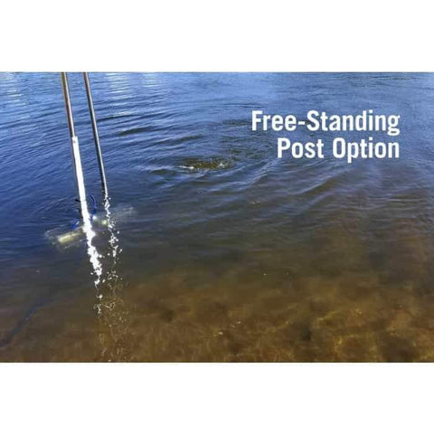 Scott Aerator Dock Mount Aquasweep Free Standing Post Option in the water