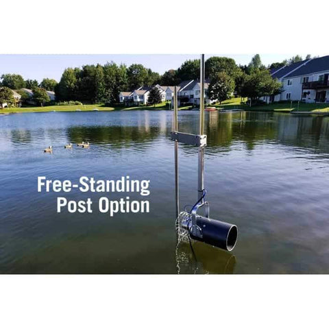 Scott Aerator Dock Mount Aquasweep Free Standing Post Option ready to go.