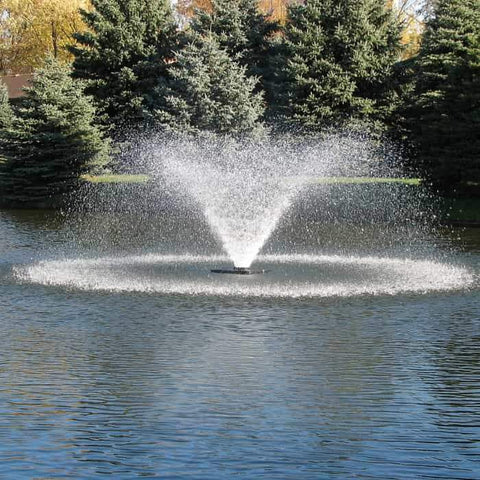 Scott Aerator DA-20 Display Aerator 1 1/2 Hp floating pond fountain as a pond aerator fountain. This large pond aerator is also known as a Floating Pond Aerator Fountain.