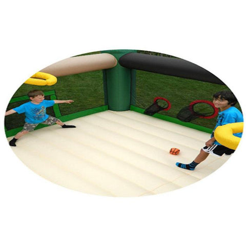 Island Hopper Sports and Hops 5 Activity Bounce House -inside sports view  Splashy McFun
