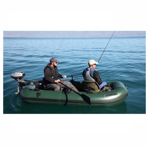 2 guys fishing on the lake on the Sea Eagle Stealth Stalker 10 Inflatable Fishing Boat