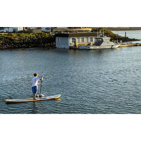 Advanced Elements Stiffy Inflatable Stand Up Paddle Board (SUP) on the water