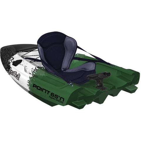 Point 65 Tequila! GTX Angler Modular Kayak Sections - Modular Kayak Sections -  Point 65 - Splashy McFun - Green, White, and Black back section