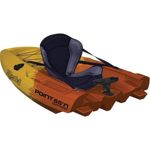 Point 65 Tequila! GTX Angler Modular Kayak Sections - Modular Kayak Sections -  Point 65 - Splashy McFun Gold and Orange camouflage back section
