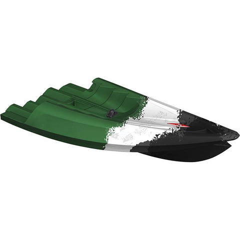 Point 65 Tequila! GTX Angler Modular Kayak Sections - Modular Kayak Sections -  Point 65 - Splashy McFun - - Green, White, and Black front section