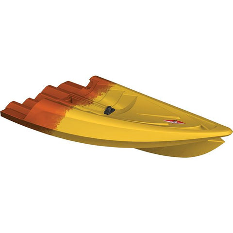 Point 65 Tequila! GTX Angler Modular Kayak Sections - Modular Kayak Sections -  Point 65 - Splashy McFun Gold and Orange camouflage front section