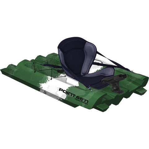 Point 65 Tequila! GTX Angler Modular Kayak Sections - Modular Kayak Sections -  Point 65 - Splashy McFun - Green, White, and Black middle section