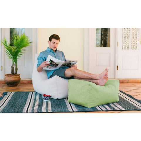 Jaxx Leon Outdoor Bean Bag Ottoman (Sunfield)