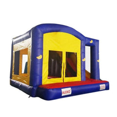 Aleko Commercial Bounce House with Basketball Hoop and Slide
