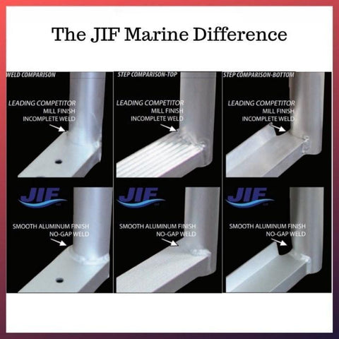 JIF Marine 4-Step Pontoon Telescoping Ladder