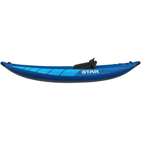 STAR Raven I Inflatable Kayak Side view of the blue version.