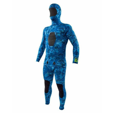 Body Glove 3MM Free Dive Mens 2-Piece Beaver Tail Suit - Blue Water Camo