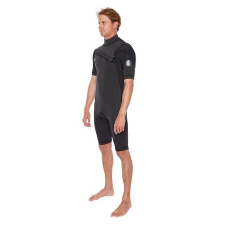 Body Glove PR1ME 2MM Short Sleeve Slant-Zip Mens Springsuit - Black