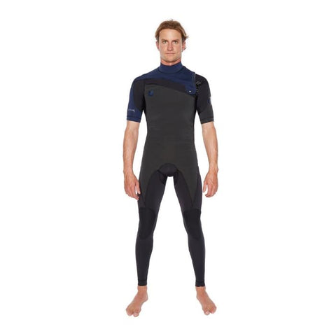 Body Glove PR1ME 2MM Short Sleeve Slant-Zip Mens Full Suit- Navy