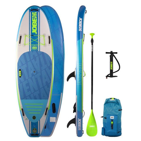 Jobe Venta 9.6 Inflatable Paddle Board Package with Paddle, Pump, Leash, and Bag