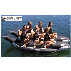 Island Hopper 6 Person Whale Ride Banana Boat Tube