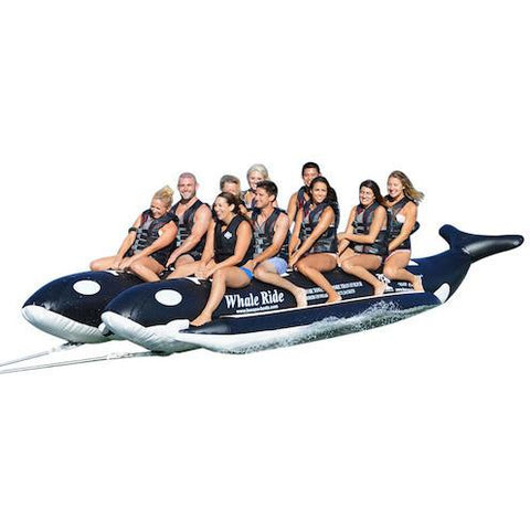 Island Hopper 10 Person Banana Boat Whale Ride Towable, left side view