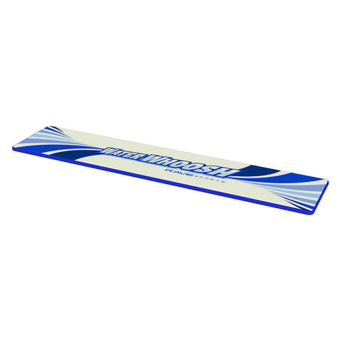 Top front view of Rave Water Whoosh 20' Inflatable Water Mat on a white background.