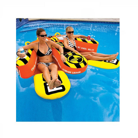 WOW Watersports Yankee Coupe Boat Tube and Lounger in the pool