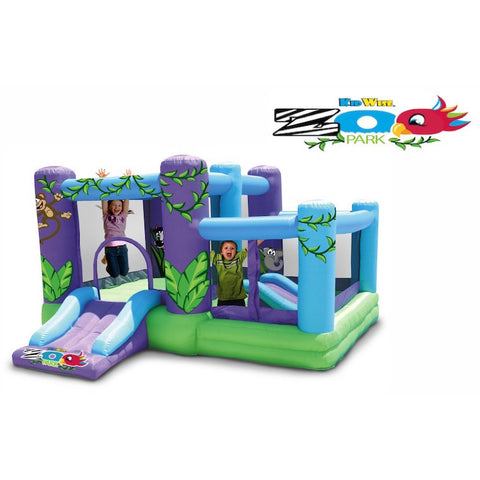 KidWise Zoo Park Bounce House with Ball Pit - Bounce House -  KidWise - Splashy McFun Watersports