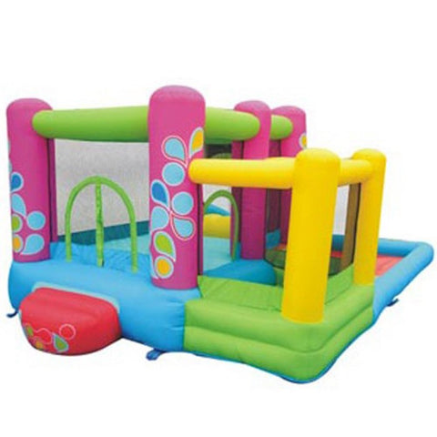 KidWise Little Sprout All in One Bounce N Slide Combo Bouncer rear view