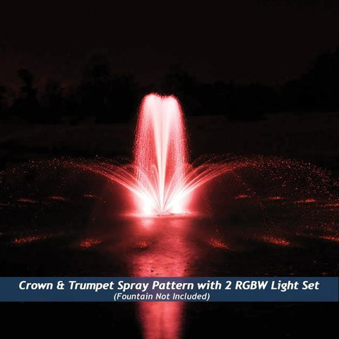 Airmax RGBW Color-Changing LED Fountain Set, Red is shown.