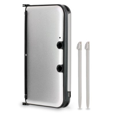 3DS XL Aluminum Shell with 2 Stylus Pens (Silver)