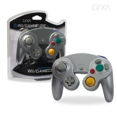 Wii/ GameCube Wired Controller (Silver)