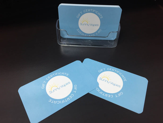 Sunny Vapes Digital Gift Cards are Here!