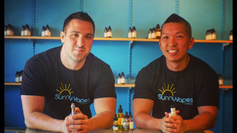Marcus Bower and David Kim, Owners, Sunny Vapes LLC