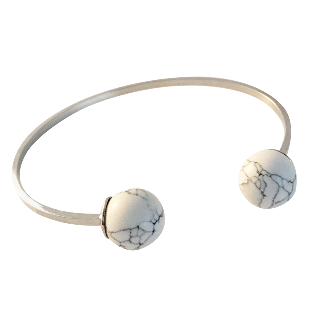 Marble Double Ball Bangle