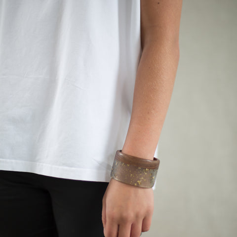 Opaque Handcrafted Tas Oak Cuff