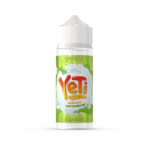 Yeti - Apricot Watermelon. Polar watermelon crystals are catapulted into a wall of frozen apricot, one person's idea of fun is another's recipe for deliciousness. Available in 100ml Shortfill 0mg Nicotine