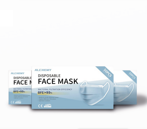 Disposable Face Mask 50x Box