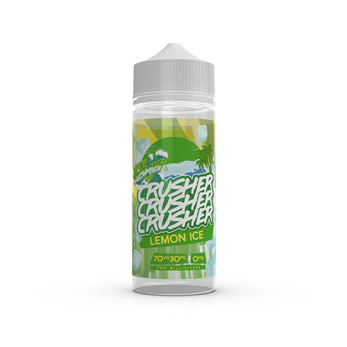 Crusher - Lemon Ice. Treat your tastebuds, lock into our luscious lemon and prepare for an outstanding fresh taste. Squeezed and mixed with sweetness, a zesty lemon sorbet that you would not believe possible in an e-liquid. Available in 100ml Shortfill 0mg Nicotine. E-Liquid from Prohibition®