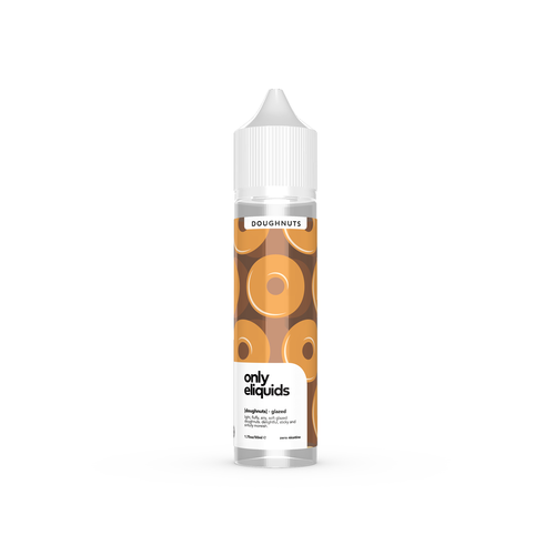 Only eliquids - Custard Doughnuts. Light, fluffy, airy, soft glazed doughnuts. Delightful, sticky and sinfully moreish. Available in 50ml Shortfill 0mg Nicotine. E-Liquid from Prohibition®