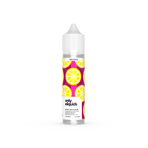 Only eliquids - Pink Lemonade. Fresh pressed lemonade infused with luscious raspberries. Delivering cut through refreshment with every inhale. Available in 50ml Shortfill 0mg Nicotine. E-Liquid from Prohibition®