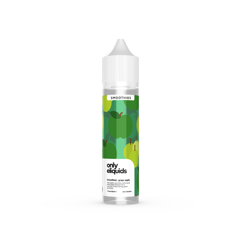 Only eliquids - Grape Apple. Crisp apple, juicy kiwi, cactus and white grape twisted into a harmony of astonishing green goodness. Available in 50ml Shortfill 0mg Nicotine. E-Liquid from Prohibition®