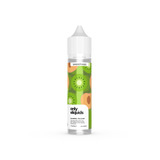 Only eliquids - Kiwi Peach. Fresh, juicy cubes of kiwi and peach halves, blitzed together with a selection of the sweetest, tropical fruits. Available in 50ml Shortfill 0mg Nicotine. E-Liquid from Prohibition®