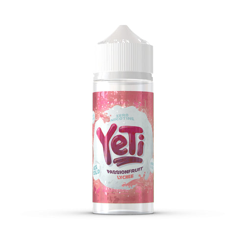 Yeti - Passionfruit Lychee. Turns out, the Yeti does have a passionate side. This Baltic blend will send shivers down your spine with lashings of luscious lychee. Available in 100ml Shortfill 0mg Nicotine