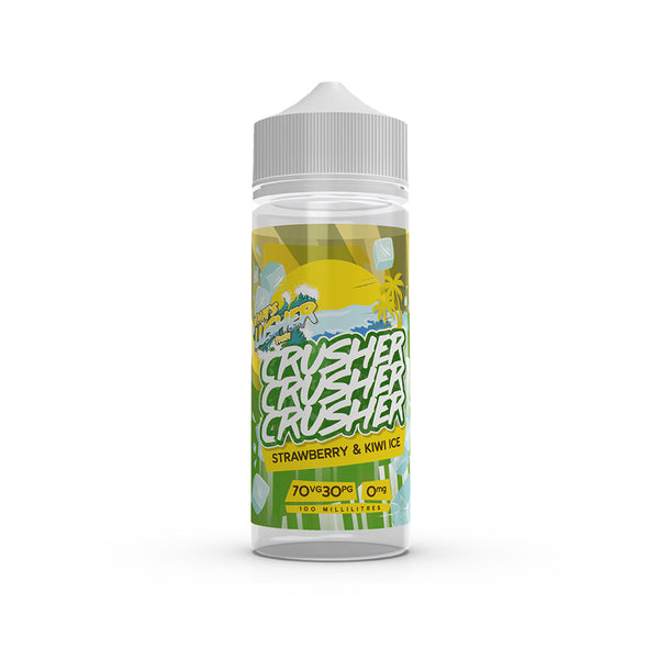 Crusher - Strawberry & Kiwi Ice. This exotic mixture brings two of the best combined fruits together. Crush the competition and treat your sweet teeth on a hot summers day. Available in 100ml Shortfill 0mg Nicotine. E-Liquid from Prohibition®