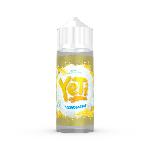Yeti - Lemonade. Frosted lemons are plucked, thawed, twisted and squeezed to produce this refreshingly timeless lemonade. Available in 100ml Shortfill 0mg Nicotine and Salt Nic. E-Liquid from Prohibition®