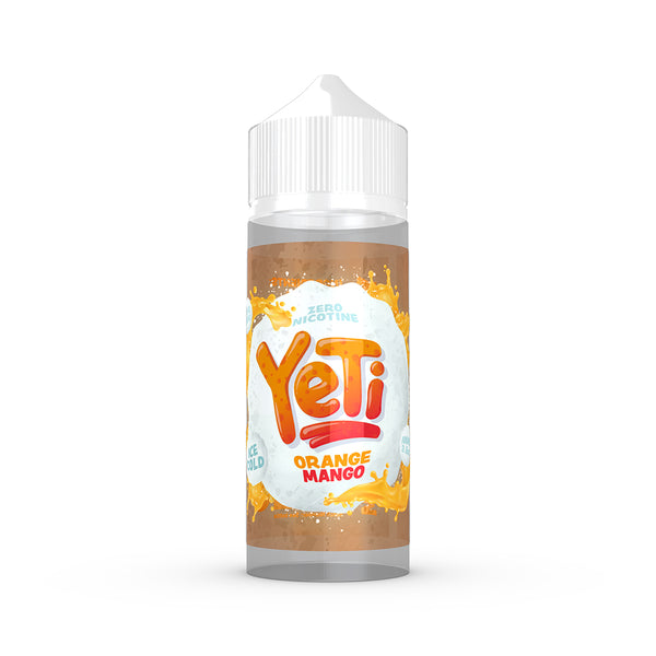 Yeti - Orange Mango. Frozen in time. The Yeti's classic blend of orange and mango comes together to create an avalanche of flavour. Available in 100ml Shortfill 0mg Nicotine and Salt Nic. E-Liquid from Prohibition®